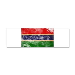 Gambia Flag Car Magnet 10 x 3
