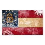 Georgia Flag Sticker (Rectangle 10 pk)