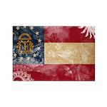 Georgia Flag Rectangle Magnet (100 pack)