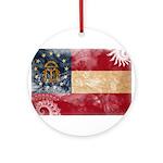 Georgia Flag Ornament (Round)