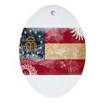Georgia Flag Ornament (Oval)