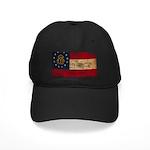 Georgia Flag Black Cap