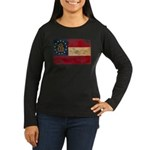 Georgia Flag Women's Long Sleeve Dark T-Shirt