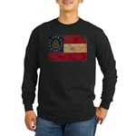 Georgia Flag Long Sleeve Dark T-Shirt