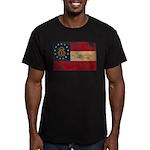 Georgia Flag Men's Fitted T-Shirt (dark)