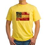 Georgia Flag Yellow T-Shirt