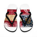 Georgia Flag Flip Flops