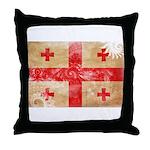 Georgia Flag Throw Pillow