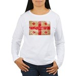 Georgia Flag Women's Long Sleeve T-Shirt