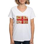 Georgia Flag Women's V-Neck T-Shirt