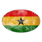 Ghana Flag Sticker (Oval 10 pk)