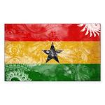 Ghana Flag Sticker (Rectangle)