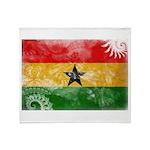 Ghana Flag Throw Blanket