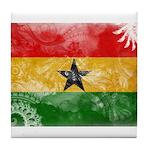 Ghana Flag Tile Coaster