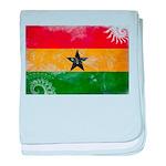 Ghana Flag baby blanket