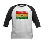 Ghana Flag Kids Baseball Jersey