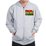 Ghana Flag Zip Hoodie