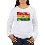 Ghana Flag Women's Long Sleeve T-Shirt