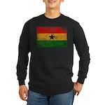 Ghana Flag Long Sleeve Dark T-Shirt
