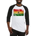 Ghana Flag Baseball Jersey