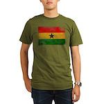 Ghana Flag Organic Men's T-Shirt (dark)