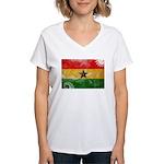 Ghana Flag Women's V-Neck T-Shirt