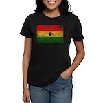 Ghana Flag Women's Dark T-Shirt