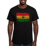 Ghana Flag Men's Fitted T-Shirt (dark)