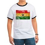 Ghana Flag Ringer T