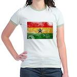 Ghana Flag Jr. Ringer T-Shirt