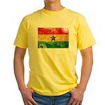 Ghana Flag Yellow T-Shirt