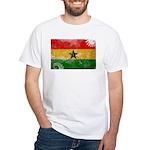 Ghana Flag White T-Shirt