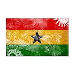 Ghana Flag 22x14 Wall Peel