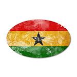 Ghana Flag 38.5 x 24.5 Oval Wall Peel