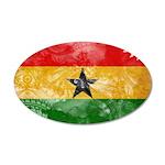 Ghana Flag 22x14 Oval Wall Peel