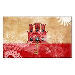 Gibraltar Flag Sticker (Rectangle 50 pk)