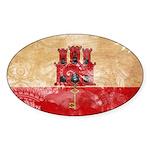 Gibraltar Flag Sticker (Oval)