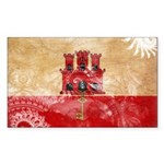 Gibraltar Flag Sticker (Rectangle)