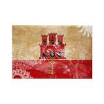 Gibraltar Flag Rectangle Magnet (10 pack)