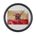 Gibraltar Flag Large Wall Clock