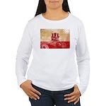Gibraltar Flag Women's Long Sleeve T-Shirt