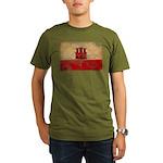 Gibraltar Flag Organic Men's T-Shirt (dark)