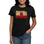Gibraltar Flag Women's Dark T-Shirt