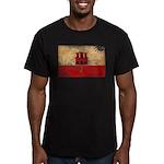 Gibraltar Flag Men's Fitted T-Shirt (dark)