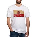 Gibraltar Flag Fitted T-Shirt