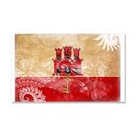 Gibraltar Flag Car Magnet 20 x 12