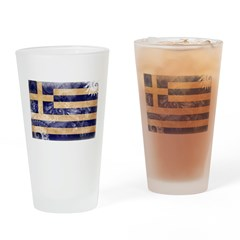 Greece Flag Drinking Glass