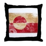 Greenland Flag Throw Pillow