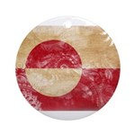 Greenland Flag Ornament (Round)