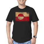 Greenland Flag Men's Fitted T-Shirt (dark)